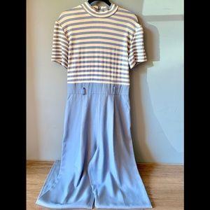 Cache Pants - CACHE Retro Jumpsuit Blue Size 4